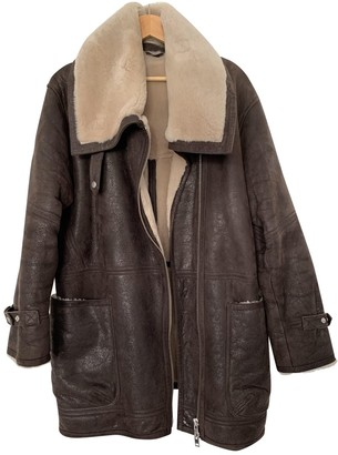 J. Lindeberg Brown Leather Leather Jacket for Women