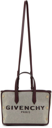 Givenchy Purple and Beige Mini Bond Shopping Tote