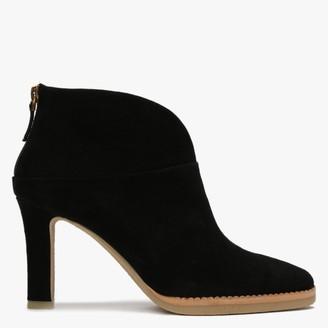 Lola Cruz Herne Black Suede Crepe Sole Ankle Boots