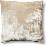Linen Salvage Et Cie Washed-Silk Velvet 22x22 Pillow, Natural