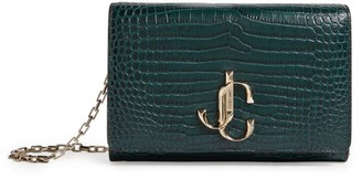 Jimmy Choo Small Croc-Embossed Leather Varenne Clutch Bag