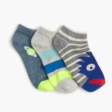 J.Crew Boys' monster-striped socks three-pack