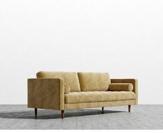 Corrigan Studio Korey Square Arms Sofa Fabric: Golden Beryl