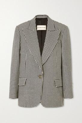 Alexandre Vauthier Houndstooth Cotton-blend Blazer - Black