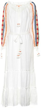Tory Burch Embroidered linen dress