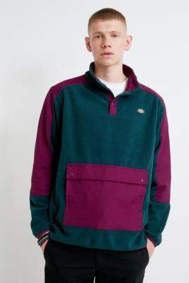 Dickies Denniston Forest Fleece Sweatshirt - blue S at Urban Outfitters