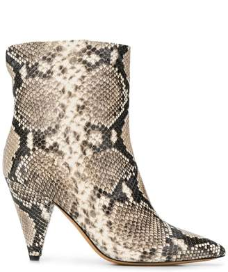 The Seller pointed snakeskin effect boots