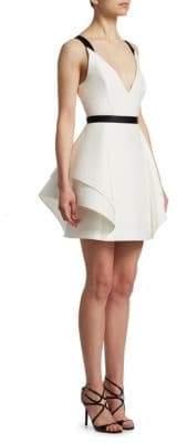Halston Women's Flounce Skirt Dress - Chalk - Size 0
