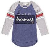 Jessica Simpson Big Girls 7-16 Neco V-Neck Dreamers Tee
