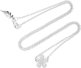 Colette Jewelry Small Flower 18K White Gold Diamond Necklace
