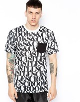Crooks & Castles T-Shirt With Headliner Print
