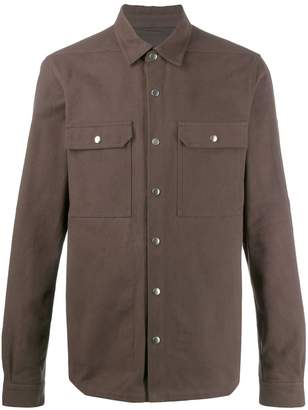 Rick Owens fabric mix shirt jacket