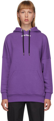 Palm Angels Purple Classic Logo Hoodie