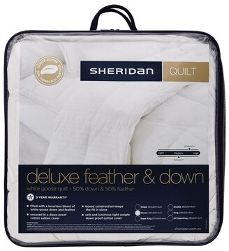 Sheridan Deluxe 50/50 White Goose Feather & Down Quilt White