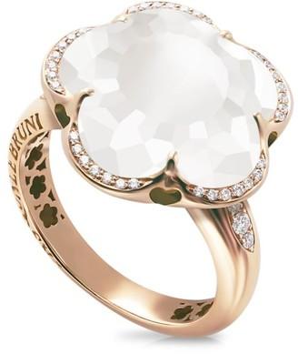 Pasquale Bruni Bon Ton 18K Rose Gold, Quartz & Diamond Ring