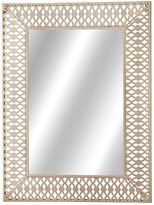 Asstd National Brand Distressed White Rectangle Wall Mirror