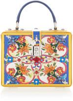 Dolce & Gabbana Printed Dauphine Leather Handbag
