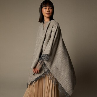 Love & Lore Love And Lore Sustainable Style Eco Herringbone Wrap Oatmeal Heather