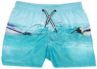 Molo Penguins Print Nylon Swim Shorts