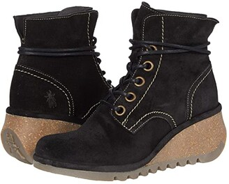 Fly London NERO257FLY (Black Oil Suede) Women's Shoes