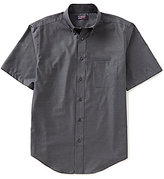 Roundtree & Yorke Travel Smart Big & Tall Short-Sleeve Solid Twill Easy Care Shirt