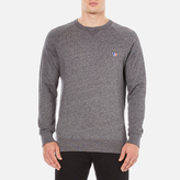 MAISON KITSUNÉ Men's Tricolor Patch Sweatshirt Grey Melange