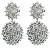 Yochi Design Yochi Crystal Clear Double Drop Earring