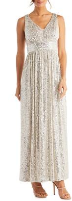 Morgan & Co. Sequin A-Line Gown