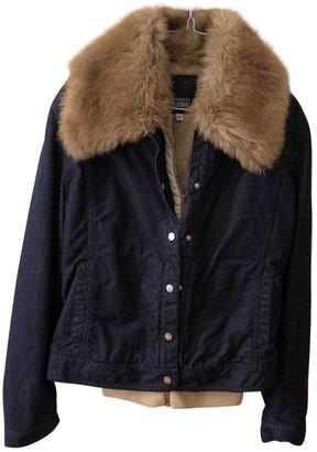 Gianfranco Ferre Camel Faux fur Coat for Women