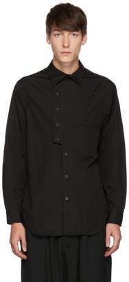 Yohji Yamamoto Black Asymmetry Shirt