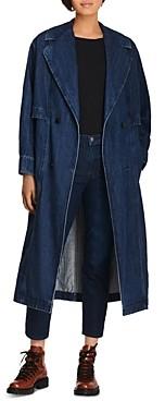 J Brand Billie Denim Trench Coat