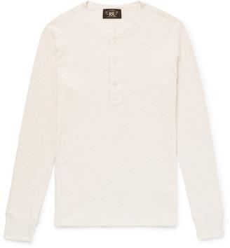 Ralph Lauren RRL Waffle-Knit Cotton Henley T-Shirt