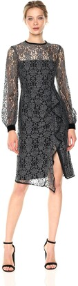 Nanette Lepore Women's Amelia Lace Dress Grey/Black 2