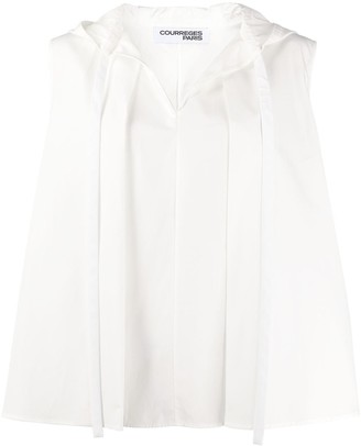 Courreges Hooded Sleeveless Top