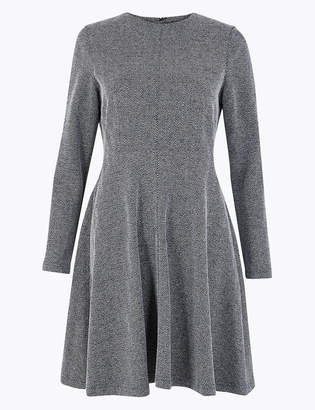 Marks and Spencer PETITE Ponte Fit & Flare Dress