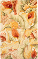 "Kas Catalina 758 Ivory Calla Lilies 30"" x 50"" Area Rug"