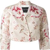 Christian Pellizzari floral print cropped jacket