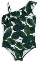 Milly Minis Toddler's, Little Girl's & Girl's Asymmetric Ruffle Swimsuit