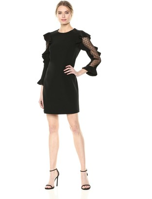 Nicole Miller Women's Long Sleeve Cocktail Dress