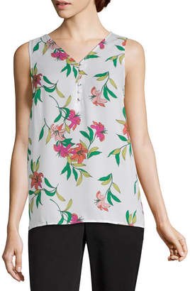 WORTHINGTON Worthington Womens V Neck Sleeveless Tank Top