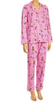 Rene Rofe Pink Dogs Button-Up Pajama Set