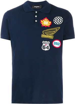 DSQUARED2 Multi-Patch Logo Polo Shirt