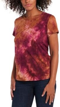 1 STATE Tie-Dye Brushed T-Shirt