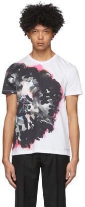 Alexander McQueen White Ink Floral T-Shirt