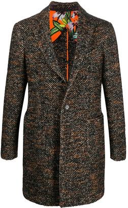Etro Herringbone Single-Breasted Coat