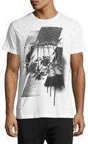 Diesel Palm Tree Graphic T-Shirt, White