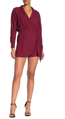 One One Six Coban Wrap Around Collared Long Sleeve Romper
