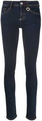 Philipp Plein High Rise Slim-Fit Jeans