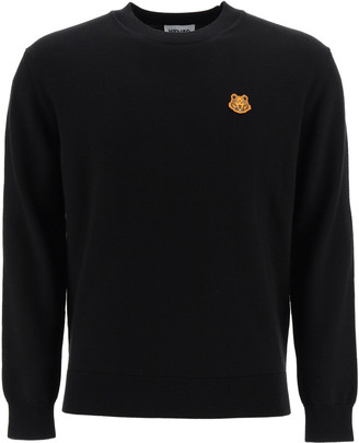 Kenzo Wool Sweater With Tiger Patch