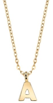 """2028 Gold-Tone Initial Necklace 20"""""""